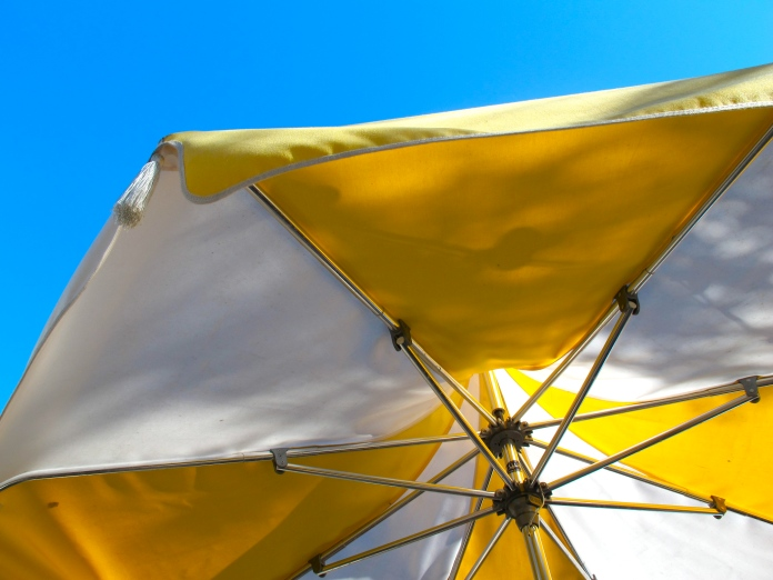 Yellow & White Umbrella by 2 Miss Mouses
