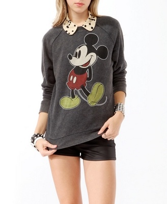 Mickey Sweatshirt Forever 21 via 2 Miss Mouses