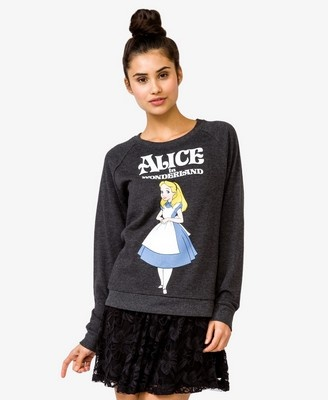 Alice in Wonderland Sweatshirt Forever 21 via 2 Miss Mouses