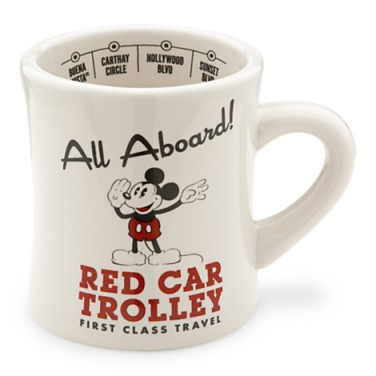 Mickey Mouse Red Car Trolley Mug via 2 Miss Mouses