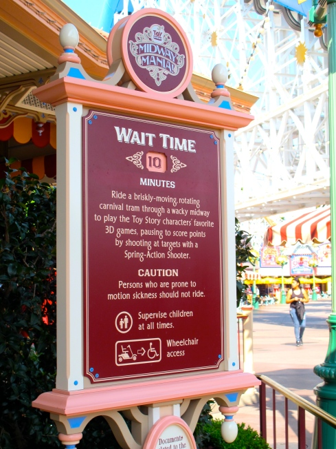 Toy Story Midway Mania Wait Time by 2 Miss Mouses