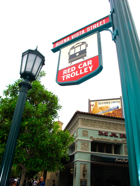 Buena Vista Street Red Car Trolley by 2 Miss Mouses