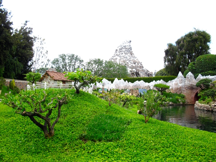 View of Matterhorn from Storybook Land Canal Boats by 2 Miss Mouses