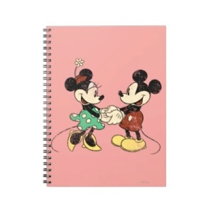 Vintage Mickey and Minnie Notebook via 2 Miss Mouses