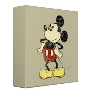 Vintage Mickey Binder vis 2 Miss Mouses