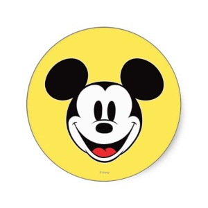 Mickey Mouse Stickers via 2 Miss Mouses