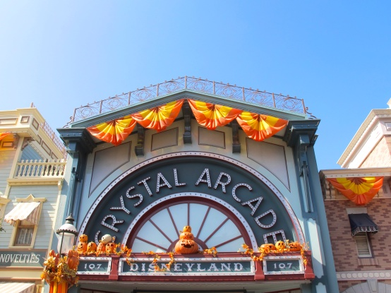 Disneyland Crystal Arcade at Halloween by 2 Miss Mouses