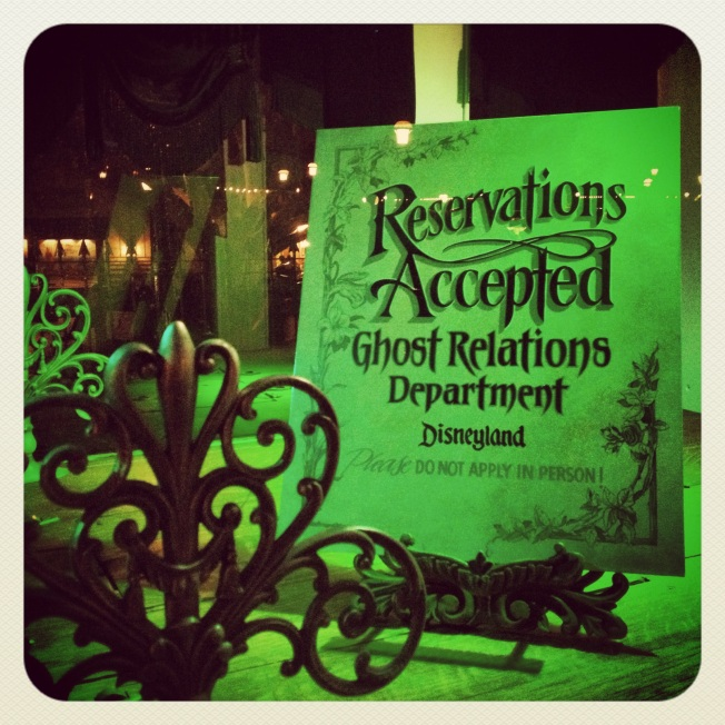 Haunted Mansion Reservations by 2 Miss Mouses